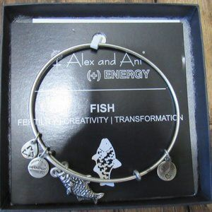 Alex and Ani Energy Silver Fish Charm Bracelet